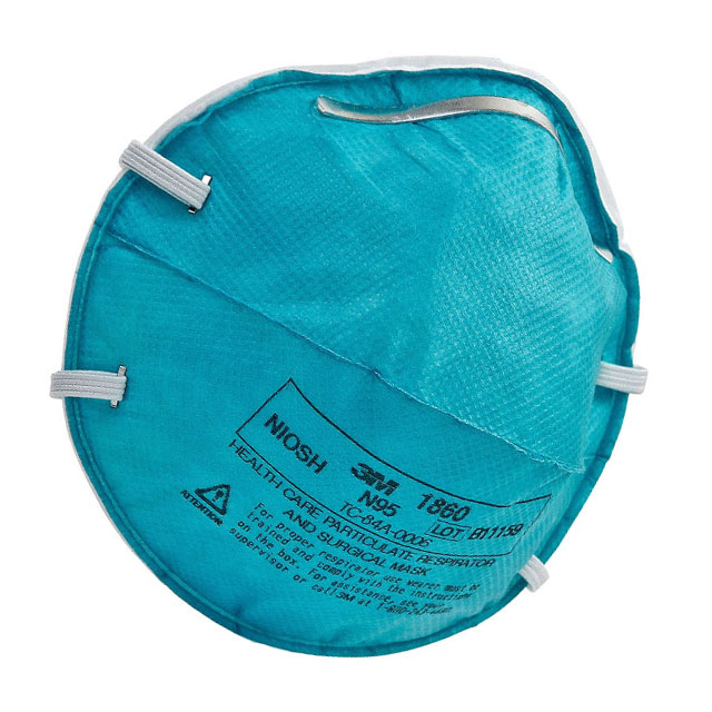 N95 respirator cup mask without exhalation valve
