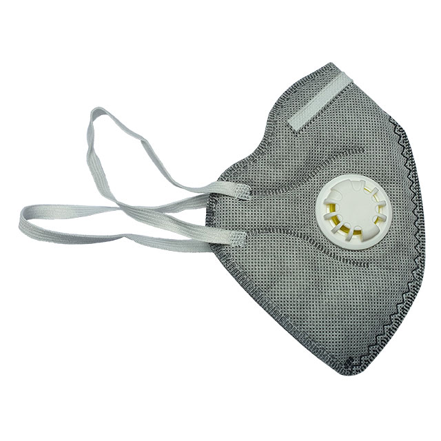 foldable respirator mask with exhalation valve